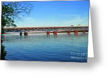 Grand Island Bridge 2 Greeting Card