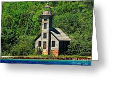 Grand Island East Channel Light Greeting Card