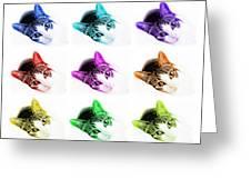 Grand Kitty Cuteness 3 Pop Art 9 Greeting Card