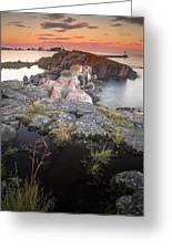 Grand Marais Harbor Greeting Card by Thomas Pettengill