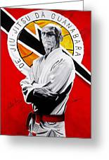 Grand Master Helio Gracie Greeting Card