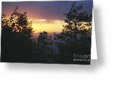 Grand Mesa Sunset Greeting Card