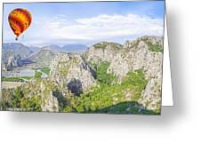 Grand Mountain And Farm  Greeting Card