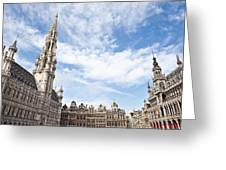 Grand Place In Brussels Belgium Greeting Card