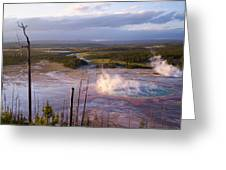 Grand Prismatic At Dusk Greeting Card