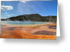 Grand Prismatic Hot Spring Pool At Yellowstone National Park Greeting Card