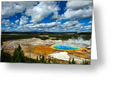 Grand Prismatic Pool Yellowstone National Park Greeting Card