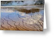 Grand Prismatic Runoff - Yellowstone Greeting Card