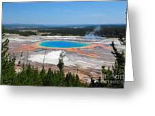 Grand Prismatic Spring From Above Greeting Card