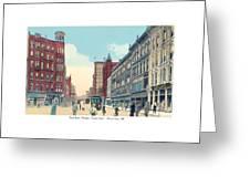 Grand Rapids - Michigan - Campau Square And Monroe Street - 1912 Greeting Card