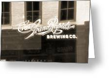 Grand Rapids Brewing Co Greeting Card