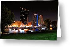 Grand Rapids Michigan At Dusk Greeting Card