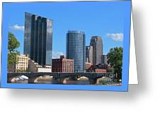 Grand Rapids Riverfront Greeting Card
