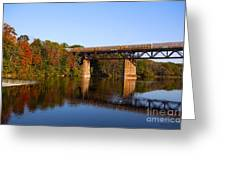 Grand River Autumn Freight Train Greeting Card