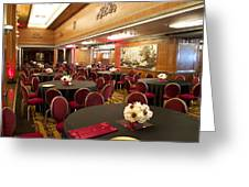 Grand Salon 03 Queen Mary Ocean Liner Greeting Card