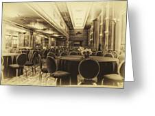 Grand Salon 05 Queen Mary Ocean Liner Heirloom Greeting Card