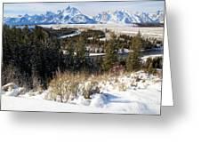 Grand Teton Landscape Greeting Card