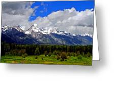Grand Teton Mountains Greeting Card