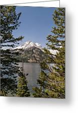 Grand Teton On Jenny Lake - Grand Teton National Park Wyoming Greeting Card
