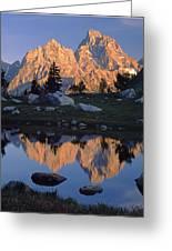 1m9376-grand Teton Reflect 2 Greeting Card