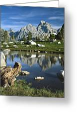 1m9374-grand Teton Reflect Greeting Card