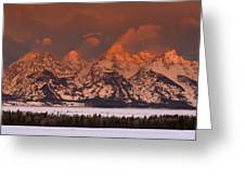 Grand Teton Winter Sunrise  Greeting Card