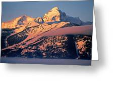 Grand Tetons In Winter Greeting Card