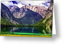 Grand Tetons National Park Painting Greeting Card