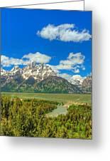 Grand Tetons Snake River Overlook  Greeting Card