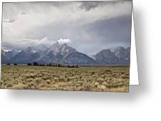 Grand Thunder - Grand Teton National Park - Wyoming Greeting Card