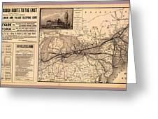 Grand Trunk Railway Map 1887 Greeting Card