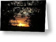 Grand Valley Sunset Greeting Card
