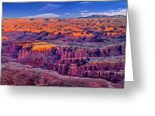 Grand View Point Evening Panorama Greeting Card