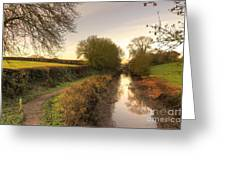 Grand Western Canal At Halberton  Greeting Card