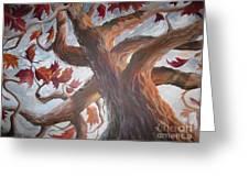 Grandeur Of Tree Greeting Card by Paula Marsh