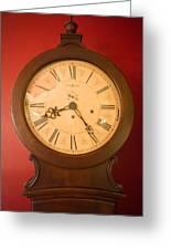 Grandfather Clock Top 1 Greeting Card by Douglas Barnett