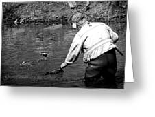 Grandfathers Are The Best Fisherman. Greeting Card