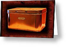 Grandma's Kitchen- Copper Breadbox Greeting Card