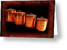 Grandma's Kitchen-copper Canister Set Greeting Card