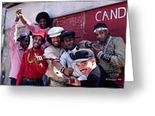 Grandmaster Flash And Furious Five In Nyc Greeting Card