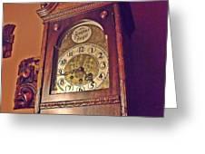Grandmother Clock Greeting Card