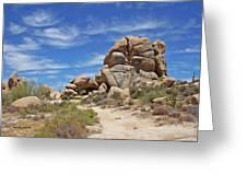 Granite Boulders In The Desert Greeting Card
