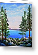 Granite Boulders Lake Tahoe Greeting Card
