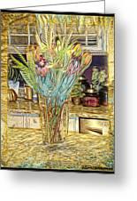 Granite Bouquet Vangogh Vision Greeting Card