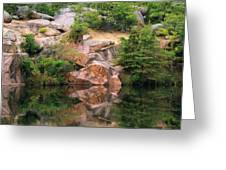 Granite Quarry And Reflections In The Missouri Ozarks Greeting Card