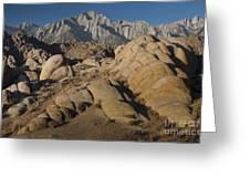 Granite Rock Formations, Alabama Hills Greeting Card