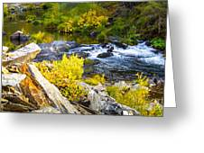 Granite Rocks Above The Cascading Feather River, Quincy California Greeting Card