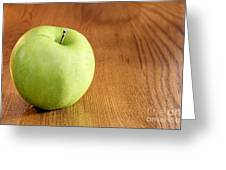 Granny Smith Apple On Table Greeting Card
