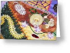 Granny's Crazy Quilt Greeting Card