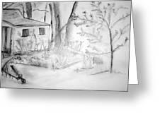 Granpa's Backyard IIi Greeting Card